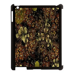 Wallpaper With Fractal Small Flowers Apple Ipad 3/4 Case (black)