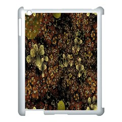 Wallpaper With Fractal Small Flowers Apple iPad 3/4 Case (White)