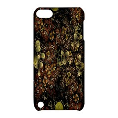 Wallpaper With Fractal Small Flowers Apple Ipod Touch 5 Hardshell Case With Stand