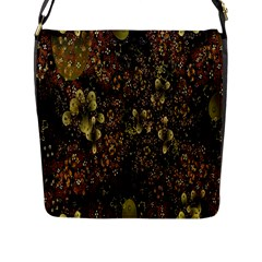 Wallpaper With Fractal Small Flowers Flap Messenger Bag (l)
