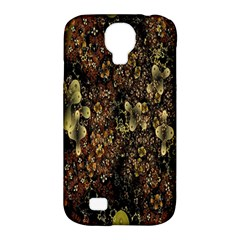 Wallpaper With Fractal Small Flowers Samsung Galaxy S4 Classic Hardshell Case (pc+silicone)
