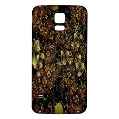 Wallpaper With Fractal Small Flowers Samsung Galaxy S5 Back Case (White)