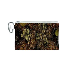 Wallpaper With Fractal Small Flowers Canvas Cosmetic Bag (s)