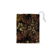 Wallpaper With Fractal Small Flowers Drawstring Pouches (xs)