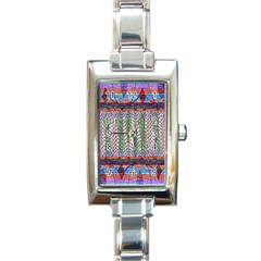 Nature Pattern Background Wallpaper Of Leaves And Flowers Abstract Style Rectangle Italian Charm Watch