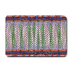 Nature Pattern Background Wallpaper Of Leaves And Flowers Abstract Style Small Doormat