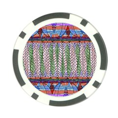 Nature Pattern Background Wallpaper Of Leaves And Flowers Abstract Style Poker Chip Card Guard
