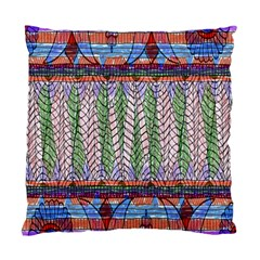 Nature Pattern Background Wallpaper Of Leaves And Flowers Abstract Style Standard Cushion Case (One Side)