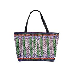 Nature Pattern Background Wallpaper Of Leaves And Flowers Abstract Style Shoulder Handbags