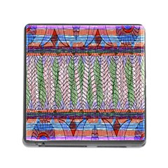 Nature Pattern Background Wallpaper Of Leaves And Flowers Abstract Style Memory Card Reader (square)