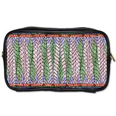 Nature Pattern Background Wallpaper Of Leaves And Flowers Abstract Style Toiletries Bags