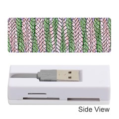 Nature Pattern Background Wallpaper Of Leaves And Flowers Abstract Style Memory Card Reader (stick)