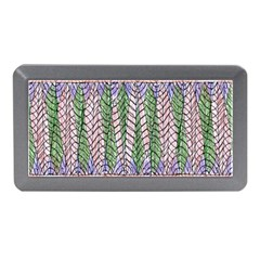 Nature Pattern Background Wallpaper Of Leaves And Flowers Abstract Style Memory Card Reader (Mini)