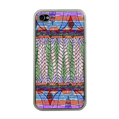 Nature Pattern Background Wallpaper Of Leaves And Flowers Abstract Style Apple Iphone 4 Case (clear)