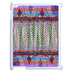 Nature Pattern Background Wallpaper Of Leaves And Flowers Abstract Style Apple Ipad 2 Case (white)