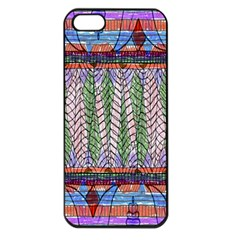 Nature Pattern Background Wallpaper Of Leaves And Flowers Abstract Style Apple iPhone 5 Seamless Case (Black)