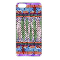Nature Pattern Background Wallpaper Of Leaves And Flowers Abstract Style Apple Iphone 5 Seamless Case (white)