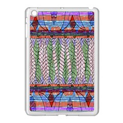 Nature Pattern Background Wallpaper Of Leaves And Flowers Abstract Style Apple Ipad Mini Case (white)