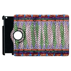 Nature Pattern Background Wallpaper Of Leaves And Flowers Abstract Style Apple Ipad 2 Flip 360 Case