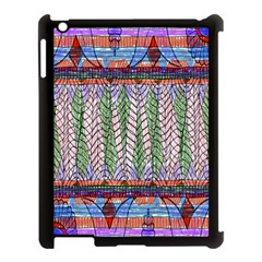 Nature Pattern Background Wallpaper Of Leaves And Flowers Abstract Style Apple Ipad 3/4 Case (black)