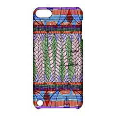 Nature Pattern Background Wallpaper Of Leaves And Flowers Abstract Style Apple iPod Touch 5 Hardshell Case with Stand
