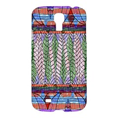 Nature Pattern Background Wallpaper Of Leaves And Flowers Abstract Style Samsung Galaxy S4 I9500/i9505 Hardshell Case