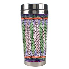 Nature Pattern Background Wallpaper Of Leaves And Flowers Abstract Style Stainless Steel Travel Tumblers