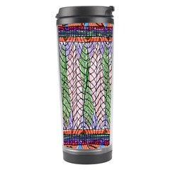 Nature Pattern Background Wallpaper Of Leaves And Flowers Abstract Style Travel Tumbler