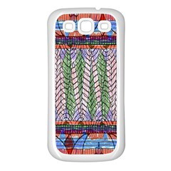 Nature Pattern Background Wallpaper Of Leaves And Flowers Abstract Style Samsung Galaxy S3 Back Case (White)