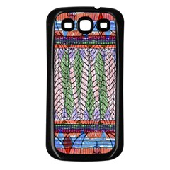 Nature Pattern Background Wallpaper Of Leaves And Flowers Abstract Style Samsung Galaxy S3 Back Case (black)