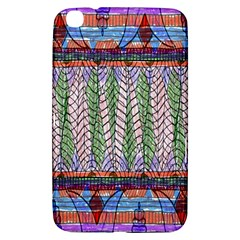 Nature Pattern Background Wallpaper Of Leaves And Flowers Abstract Style Samsung Galaxy Tab 3 (8 ) T3100 Hardshell Case