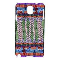 Nature Pattern Background Wallpaper Of Leaves And Flowers Abstract Style Samsung Galaxy Note 3 N9005 Hardshell Case