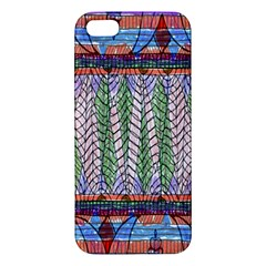 Nature Pattern Background Wallpaper Of Leaves And Flowers Abstract Style Iphone 5s/ Se Premium Hardshell Case