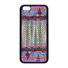 Nature Pattern Background Wallpaper Of Leaves And Flowers Abstract Style Apple Iphone 5c Seamless Case (black)