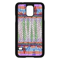Nature Pattern Background Wallpaper Of Leaves And Flowers Abstract Style Samsung Galaxy S5 Case (black)