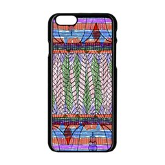 Nature Pattern Background Wallpaper Of Leaves And Flowers Abstract Style Apple Iphone 6/6s Black Enamel Case
