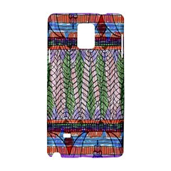 Nature Pattern Background Wallpaper Of Leaves And Flowers Abstract Style Samsung Galaxy Note 4 Hardshell Case