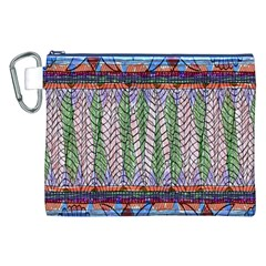 Nature Pattern Background Wallpaper Of Leaves And Flowers Abstract Style Canvas Cosmetic Bag (xxl)