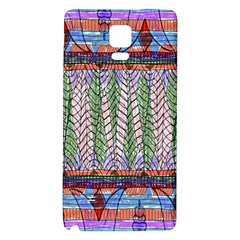Nature Pattern Background Wallpaper Of Leaves And Flowers Abstract Style Galaxy Note 4 Back Case
