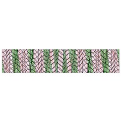 Nature Pattern Background Wallpaper Of Leaves And Flowers Abstract Style Flano Scarf (Small)