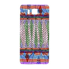 Nature Pattern Background Wallpaper Of Leaves And Flowers Abstract Style Samsung Galaxy Alpha Hardshell Back Case