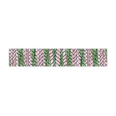 Nature Pattern Background Wallpaper Of Leaves And Flowers Abstract Style Flano Scarf (Mini)