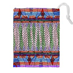 Nature Pattern Background Wallpaper Of Leaves And Flowers Abstract Style Drawstring Pouches (xxl)