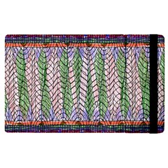 Nature Pattern Background Wallpaper Of Leaves And Flowers Abstract Style Apple Ipad Pro 9 7   Flip Case