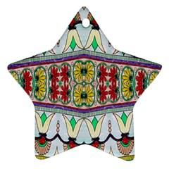 Kaleidoscope Background  Wallpaper Ornament (star)