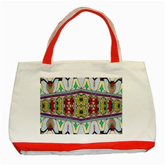 Kaleidoscope Background  Wallpaper Classic Tote Bag (red)