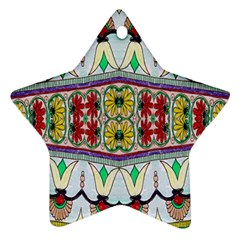 Kaleidoscope Background  Wallpaper Star Ornament (two Sides)