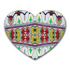 Kaleidoscope Background  Wallpaper Heart Mousepads