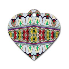 Kaleidoscope Background  Wallpaper Dog Tag Heart (Two Sides)
