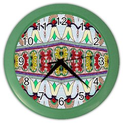 Kaleidoscope Background  Wallpaper Color Wall Clocks